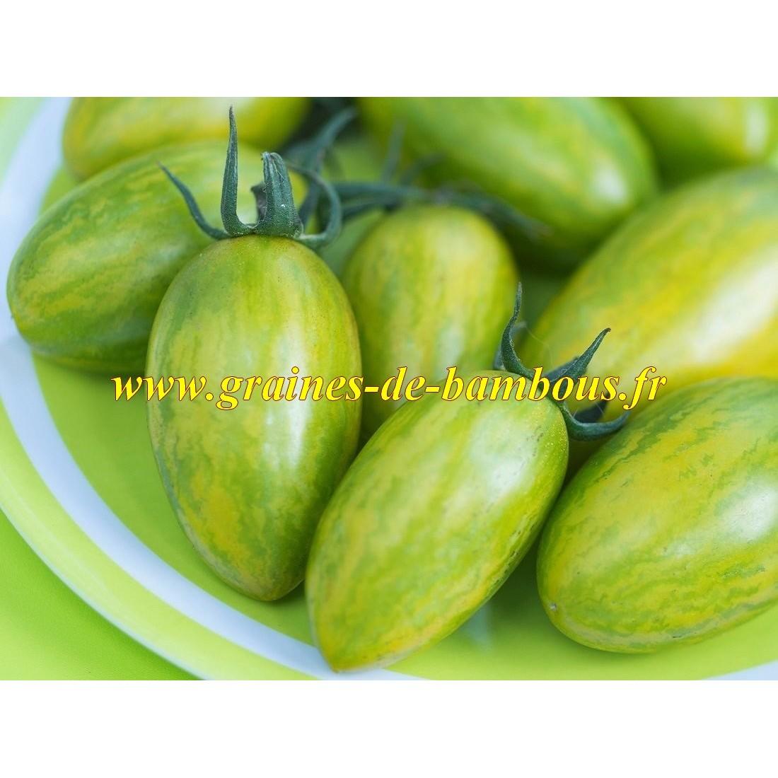 Green tiger tomate graines de bambous fr